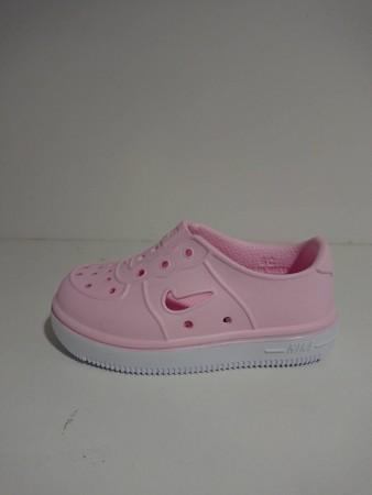 NIKE 小童鞋 休閒鞋 Foam Force 1 穿搭 童鞋 基本款 快速排水 夏日 透氣 小童 粉 AQ2442-600