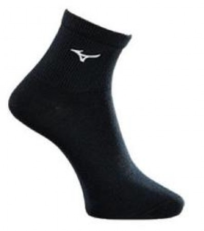 【MIZUNO 美津濃】 男 跑步 薄 底襪 運動襪 透氣 吸汗 全黑 32TX9A5391