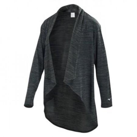 Mizuno 美津濃 女款 瑜珈 游泳 休閒 運動 罩衫 黑色 長版外套 黑 K2TC920509