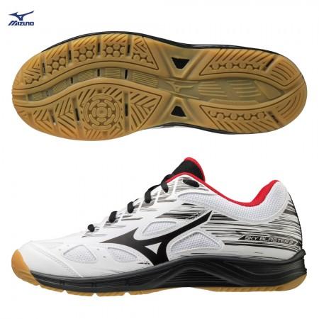 【MIZUNO 美津濃】SKY BLASTER 2 男女羽球鞋-運動 訓練 美津濃 白黑紅 71GA204509