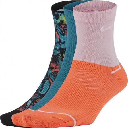 【NIKE 耐吉】襪子 運動襪 中筒襪  W NK EVERYDAY PLUS ANKLE-3PR 粉橘綠 CU8385-900