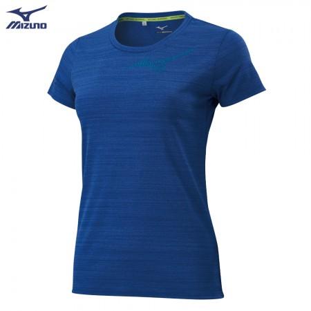 MIZUNO 美津濃 女款 路跑短袖T恤 藍 J2TA020322