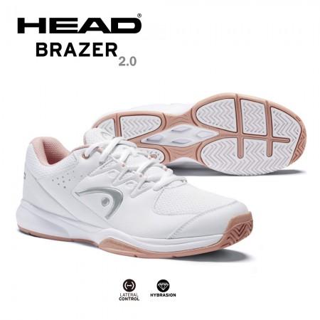 【HEAD】BRAZER 2.0 休閒網球鞋 運動鞋 女鞋 白/玫瑰 274411