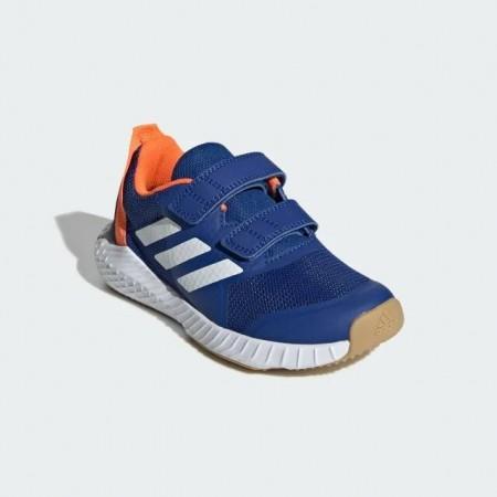 愛迪達 Adidas FORTAGYM CF K 魔鬼氈 中童鞋 大童鞋 童鞋 藍X橘 G27199