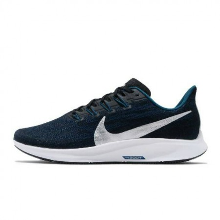NIKE 男款 慢跑鞋 Zoom Pegasus 36 男鞋 氣墊鞋 避震 運動鞋 路跑鞋 健身鞋 球鞋 黑 藍 CU2989-004