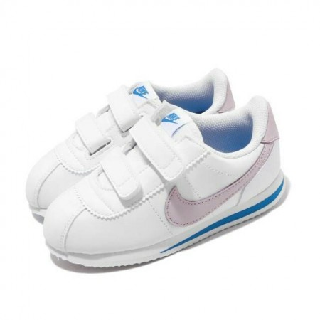 NIKE 小童 休閒運動鞋 Cortez Basic SL 運童鞋 經典阿甘鞋 魔鬼氈  舒適 白 粉904769-108