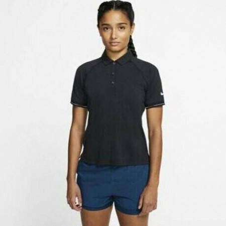NIKE Tennis 女款 網球上衣 POLO衫 短袖運動上衣 排汗 透氣 黑 BV1058-010