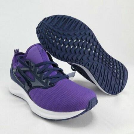 美津濃 Mizuno EZRUN CG 女款 慢跑鞋 襪套式 紫  J1GF203814