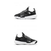 【NIKE 耐吉】慢跑鞋 Flex Advance 運動 童鞋 輕量 透氣 舒適 魔鬼氈 中童 穿搭 黑 白 CZ0186-002