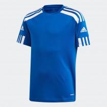 Adidas愛迪達 SQUADRA 21 JERSEY 大童  短袖 慢跑 訓練  藍 GK9151