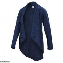MIZUNO  美津濃 女款 外套 罩衫 瑜珈 休閒 吸汗 快乾 透氣 舒適 深藍 K2TC920522