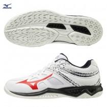 MIZUNO 美津濃 LIGHTNING STAR Jr. 兒童排球鞋 羽球鞋 室內運動鞋 白 V1GD190365