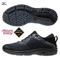 MIZUNO 美津濃  女款 WAVE RIDER GTX 防水 透氣 慢跑鞋 深藍 J1GD207910