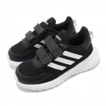 Adidas 愛迪達 TENSAUR RUN I 童鞋 小童 慢跑 休閒 透氣 網布 魔鬼氈 黑 EG4142