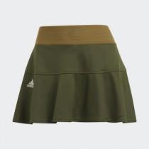 adidas 愛廸達 女款 HEAT.RDY PRIMEBLUE  網球褲裙 運動褲裙 綠 GH7597