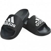 adidas 愛迪達 男女款 ADILETTE SHOWER 運動拖鞋 黑白 F34770