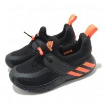 愛迪達 adidas RAPIDAZEN C 兒童運動鞋 中童運動鞋 黑橘  FX2692