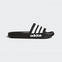 adidas 愛迪達 男女款  ADILETTE CLOUDFOAM  拖鞋 黑  AQ1701