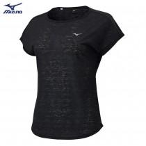 美津濃 MIZUNO 女款 瑜珈短袖T恤 黑 K2TA020109