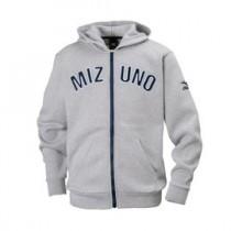 美津濃 MIZUNO Fleece 兒童刷毛拉鍊外套 淺灰 32JC795606