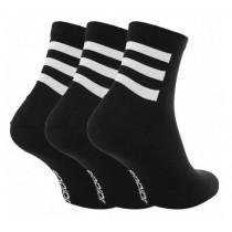 ADIDAS 愛廸達 男女款 NEO 訓練 中筒襪 3 雙入 黑 GE6164