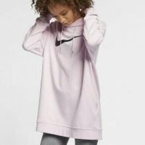 NIKE 耐吉 女款 寬鬆舒適 大勾勾 長版上衣 粉 AV8291-663