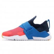 【NIKE 耐吉】休閒鞋 Huarache Extreme 女鞋 大童鞋 輕量 透氣 舒適 襪套 武士鞋 大童 藍 橘(BQ7568-400)