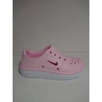 NIKE 中童鞋 休閒鞋 Foam Force 1 穿搭 童鞋 基本款 快速排水 夏日 透氣 中童 粉 AT5243-600