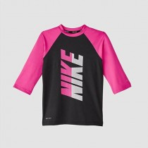NIKE Girls 兒童 女童 短袖防曬衣 NESS9621-001