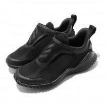 adidas 愛迪達 慢跑鞋 FortaRun AC K 運動休閒 童鞋 愛迪達 輕量 無鞋帶 魔鬼氈 中童 黑 灰 EF0145