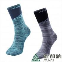 ATUNAS 歐都納 保暖雪襪2雙一組A1AS1903N  黑灰/藍綠/厚底襪/毛巾底/防寒/舒適