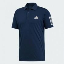 愛迪達 ADIDAS 3-STRIPES CLUB 男裝 短袖 POLO衫 休閒 網球 排汗 透氣 舒適 藍  DU0850