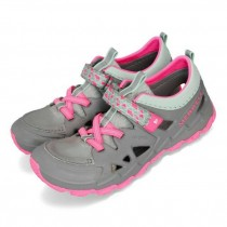 MERRELL 兩棲鞋 Hydro 2.0 女鞋 大童鞋 水陸兩用 快乾 好穿脫 透氣防臭 灰 粉MY58615