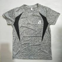 兒童運動衫 自創品牌 3M技術 速乾 吸濕排汗 灰黑 EUK04