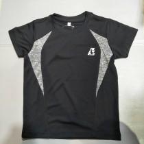 兒童運動衫 自創品牌 3M技術 速乾 吸濕排汗 黑灰 EUK03