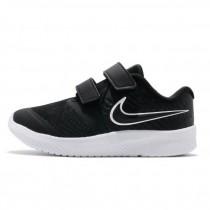 NIKE BABY 小童 慢跑鞋 Star Runner 2 運動鞋 童鞋 輕量 透氣 舒適 球鞋  黑 白AT1803-001