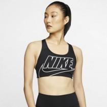 Nike Swoosh 女款 中度支撐運動內衣 黑 BV3644-010