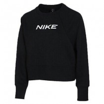 NIKE TRAINNG 女款 長袖 短版 基本 素面 黑 CQ9306-010