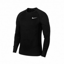 NIKE 男款 合身運動上衣 長袖 AS M NP Top LS Slim DRI-FIT 黑銀 BV5595-010