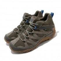 MERRELL  Alverstone Mid GTX 男款 登山鞋 越野 防水 膠底 耐磨 灰 藍 ML034281