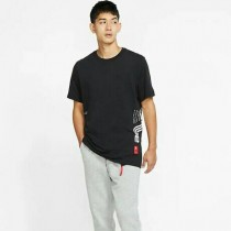 Nike Dri-FIT Kyrie 男款 短袖上衣  休閒 籃球 運動 透氣 印花 黑 CD0928-010