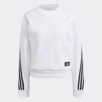 adidas 愛迪達 女款 WRAPPED 3-STRIPES 上衣 T恤  白 長袖 GJ5446
